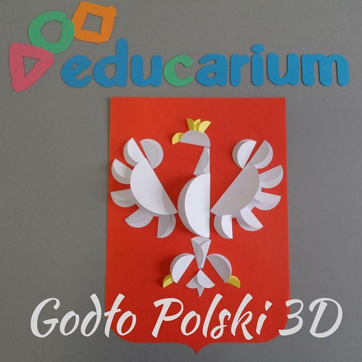 Godło Polski trochę inaczej. Myślicie, ze spodoba się Waszym uczniom? :) http://www.educarium.pl/index.php/kaczik-plastyczny/434-godo-polski-origami-paskie-z-koa.html