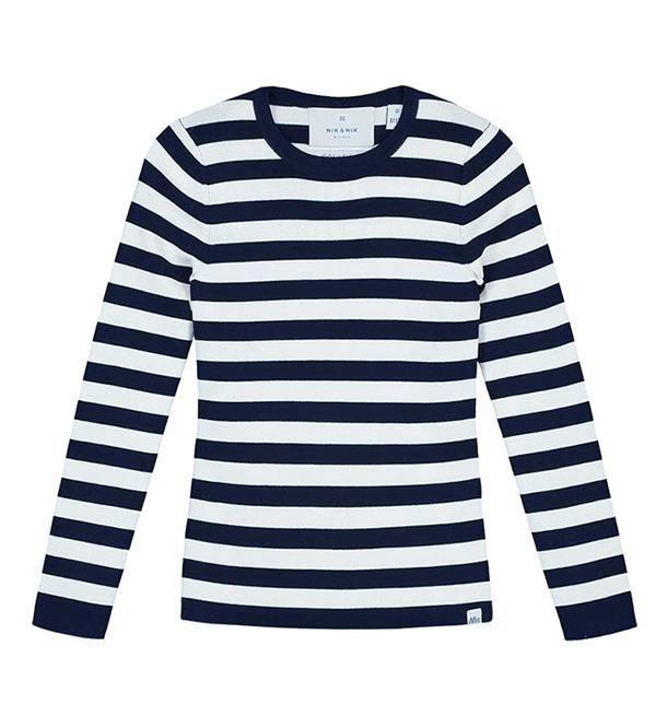 Nik and Nik t-shirt Jolie. Dit shirt heeft een streep dessin, lange mouwen en een ronde hals. Shop Nik & Nik meisjeskleding @ https://www.nummerzestien.eu/nik-and-nik/meisjes/