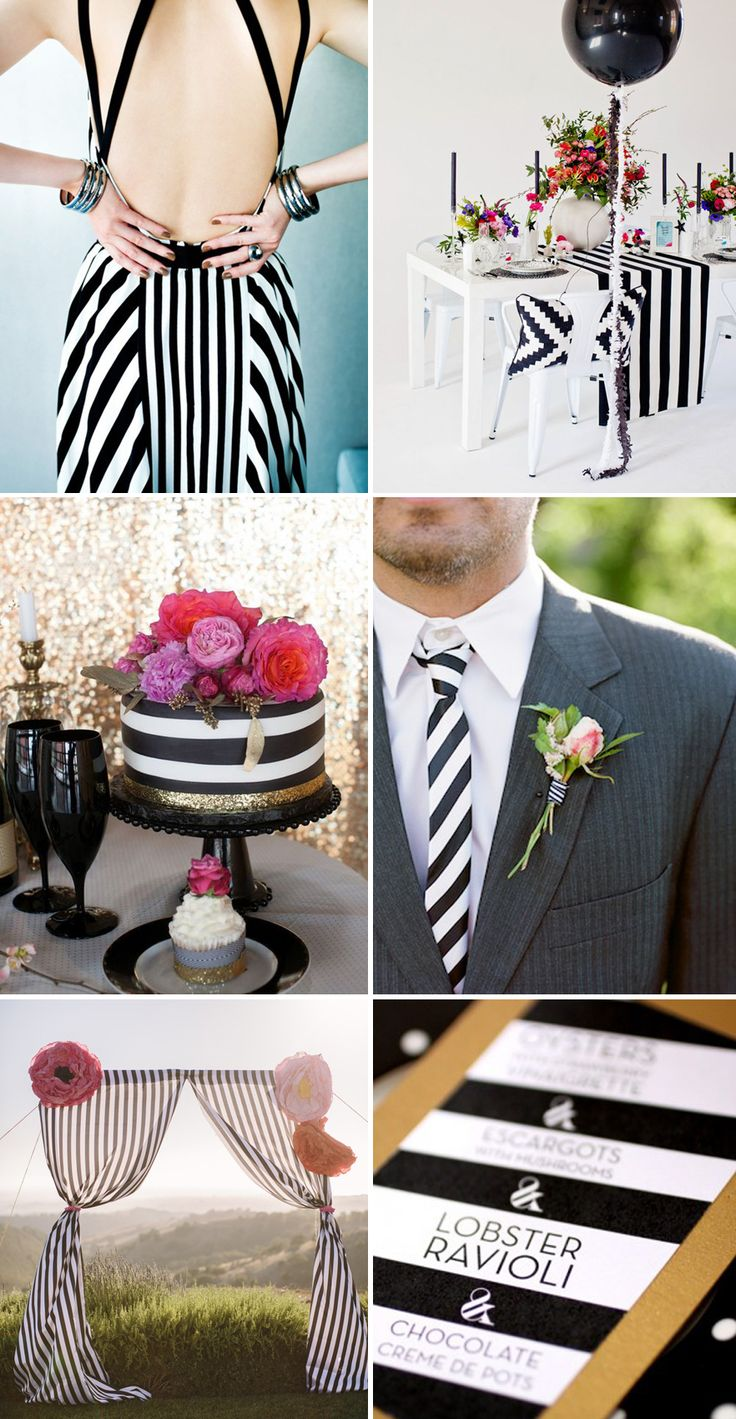 black & white stripe wedding Not going to lie, I love black and white stripes.