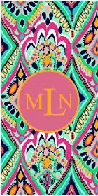 Beautifully Chaotic: Lilly Pulitzer Monogram Wallpaper
