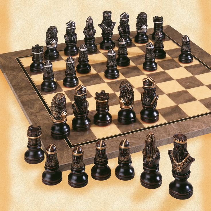 Wooden Chess Set Knights Templar | Wooden Thing