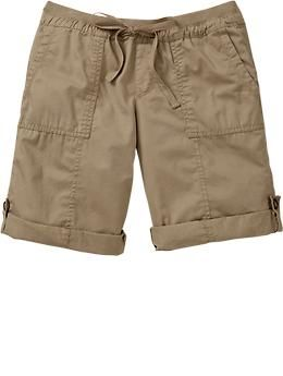 Old Navy Roll Tab Bermudas (look great unrolled, rolled, not so cute) Surplus Khaki (purchased)