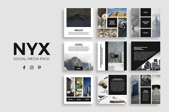 Nyx Social Media Pack by SlideStation on @creativemarket