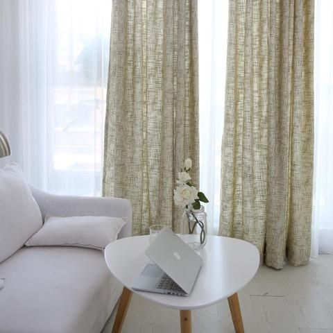 Burlap white Beige curtains and drapes panels
