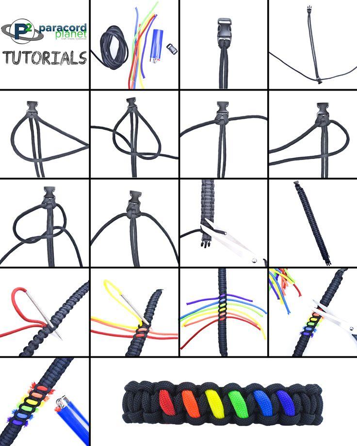 Rainbow #Paracord bracelet tutorial