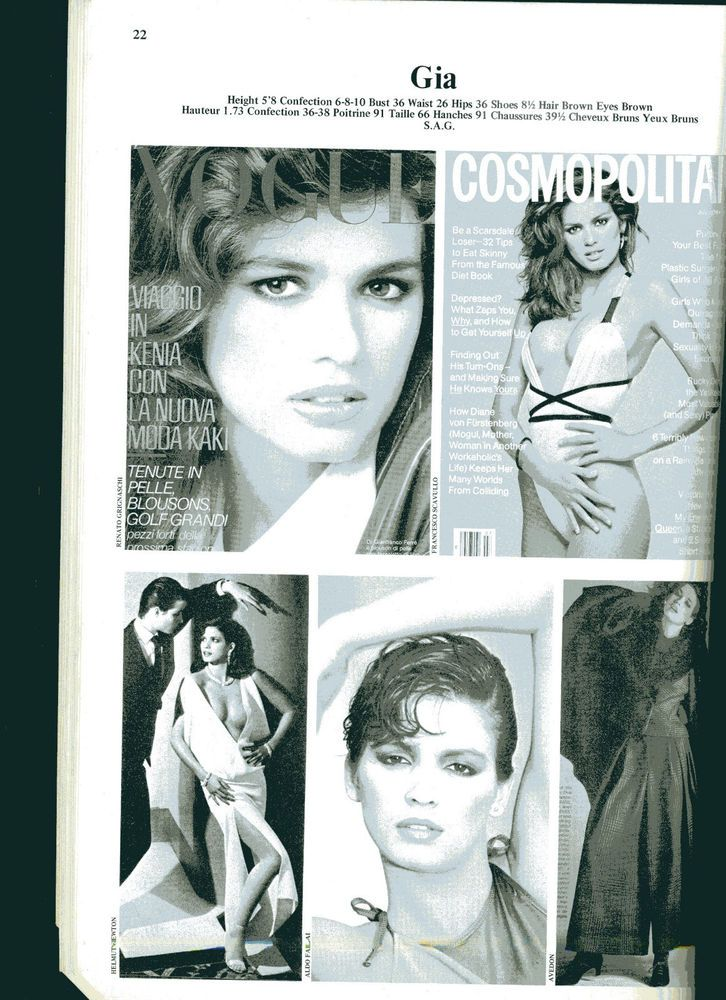 1982 John Casablancas Elite Model Management Portfolio Modeling Book Gia Carangi  | eBay