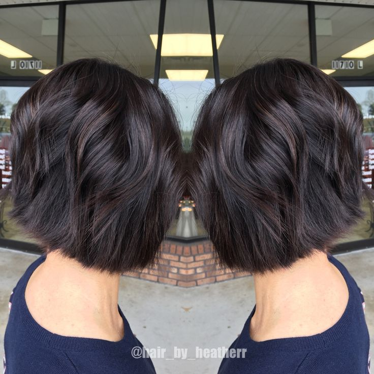 Choppy Textured Dark Brown Bob Hair Pinterest Bobs