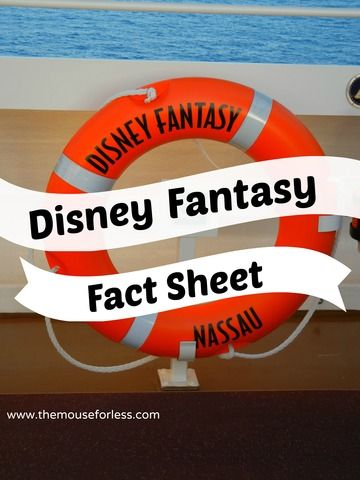 Disney Fantasy Fact Sheet - Disney Cruise Line