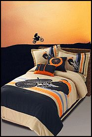 motorcross bedroom theme | Extreme Motocross Bedding http://boysthemebedrooms.com/skater ...