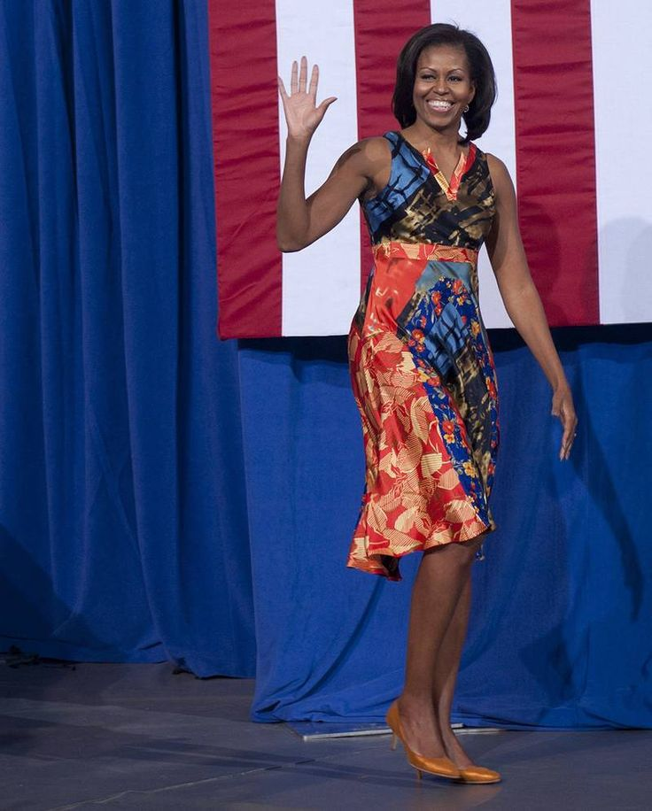 Michelle Obama Wearing Black Designers