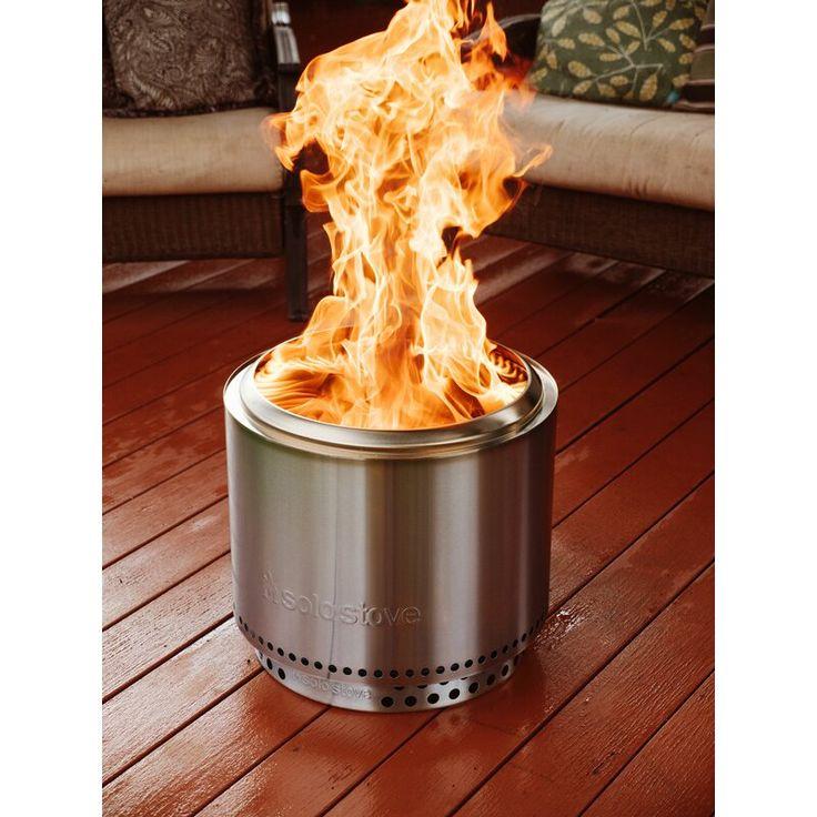 Bonfire bundle stainless steel wood burning fire pit