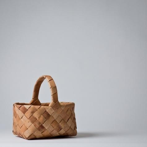 finnish birch bark basket
