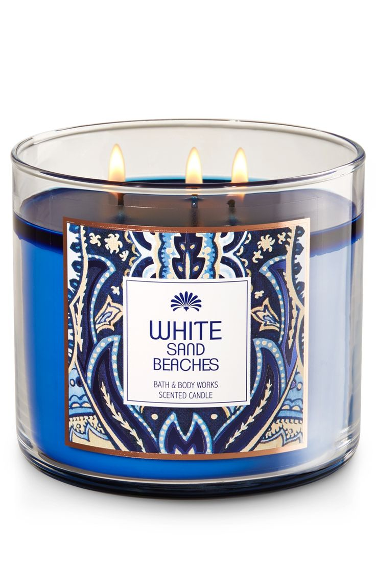White Sand Beaches 3-Wick Candle - Home Fragrance 1037181 - Bath & Body Works