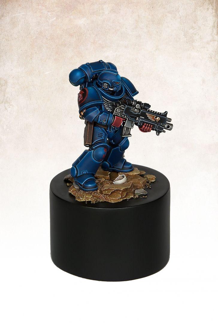Primaris Crimson Fist Marine, by Max Faleij