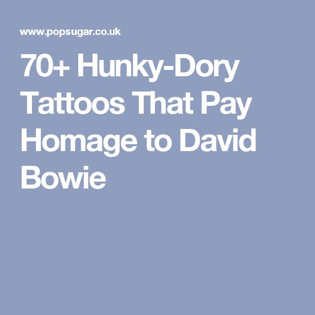 70+ Hunky-Dory Tattoos That Pay Homage to David Bowie