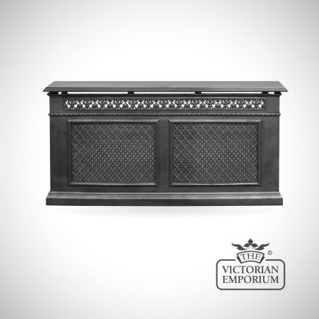 Decorative Cast Iron 2 Panel Radiator Cover £709.20 (862.95 US Dollar)