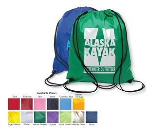 Solid Color Drawstring Backsack; Different style and colors are available.