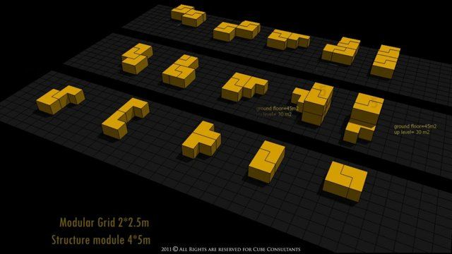 Puzzle-1.6 (Low Cost housing system in South Africa) This is a smart  Idea for Housing Urban Planning System for low cost housing . Located in Johannesburg, South Africa .  The concept covered a social and environmental economical planning Puzzle 1.6 system  is suitable for any  place any where Created & Designed by: CUBE Consultants -2011