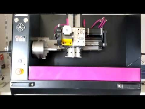home made cnc lathe threading - YouTube