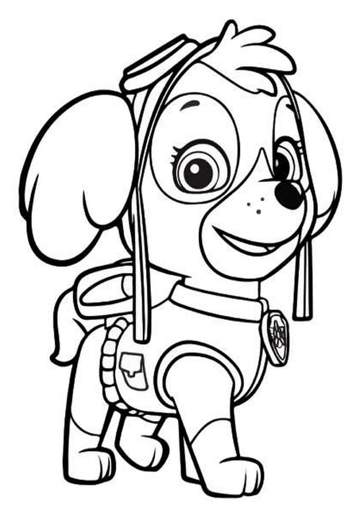 Skye1 psi patrol pok j dzieci cy pinterest coloriage coloriage ninja i coloriage enfant - Coloriage ninja ...