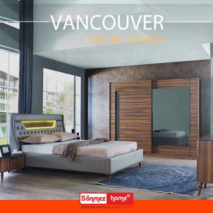 Vancouver Modern Yatak Odası Takımı ile haftaya huzurlu ve keyifli başlayın! #Modern #Furniture #Mobilya #Vancouver #Yatak #Odası #Sönmez #Home