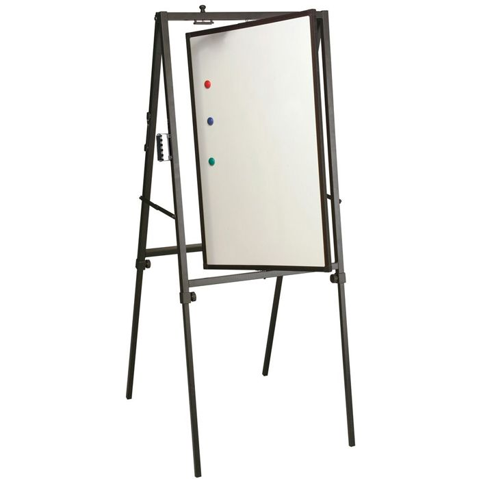 best rite adjustable magnetic doublesided whiteboard spinner rotating easel white 799 d plain and simple deals no frills just deals - Whiteboard Easel