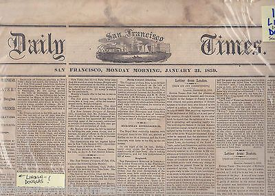 ABRAHAM LINCOLN DEFEATED BY DOUGLAS IN 1859 IL SENATE RACE ANTIQUE NEWSPAPER