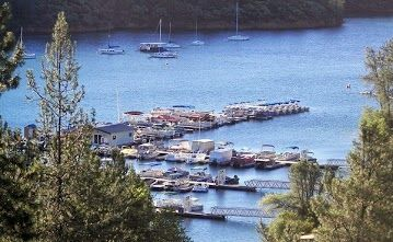 Marina ca off of and boats on pinterest for Whiskeytown lake fishing