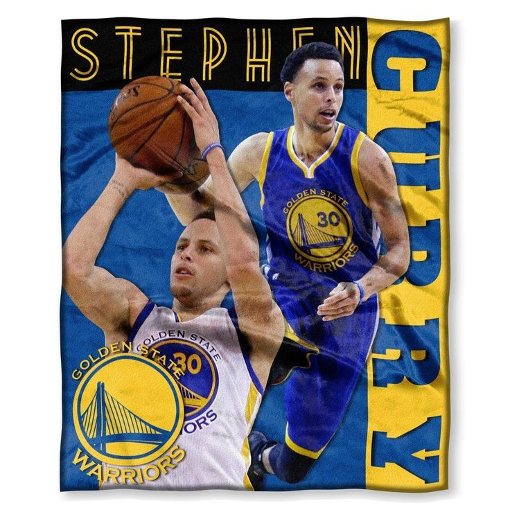 NBA Golden State Warriors Throw Blanket 50x60 Blue California Golden Yellow Sports & Collegiate Pattern Polyester Soft Touch Team Logo Sports Themed