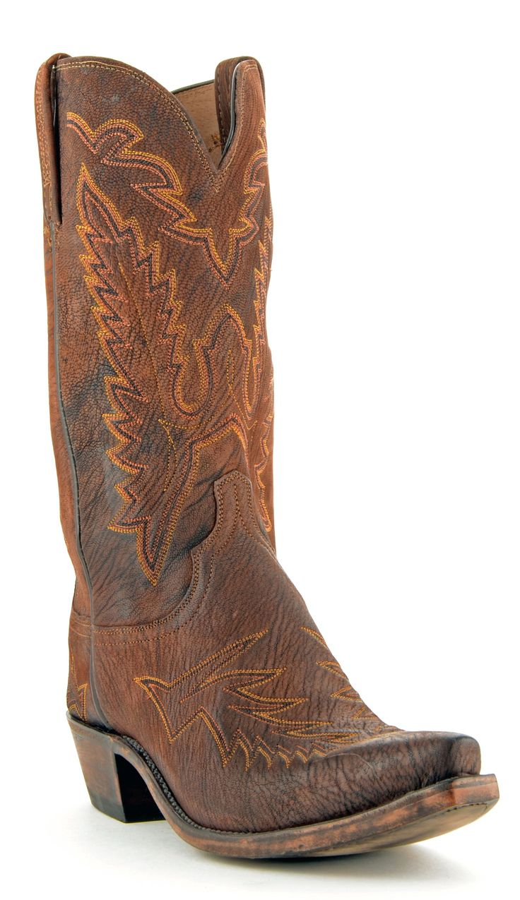 NEW! Mens Lucchese Marsh Goat Boots Chocolate #N9407