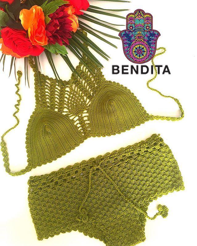 """GREEN TEA""🍵 crochet bikini 💐💐 www.bendita-fashion.com  Shipping worldwide 🌍🌵🍵fast shipping 🌵  #coachella #palmsprings #summer #instagram #fashion #swimwear #swimsuit #losangeles #ibiza #boho #club #miami #tagsforlikes #follow #gypsy #newyork #magazine #festival #spain #bali #sandiego #beach #riodejaneiro #copacabana #handmade #lasvegas #picoftheday #sandiego #sandiegoconnection #sdlocals #sandiegolocals - posted by Bendita Fashion https://www.instagram.com/bendita_fashion. See more…"