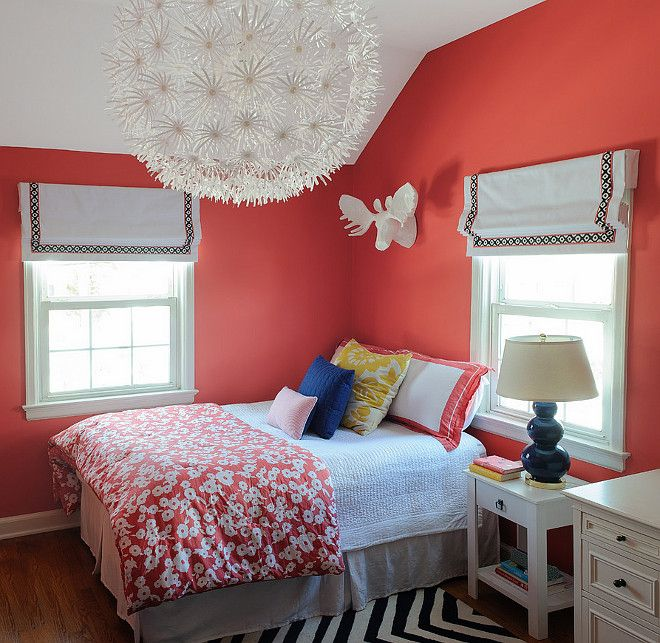 Coral Walls Bedroom, Coral Bedroom And Coral Aqua