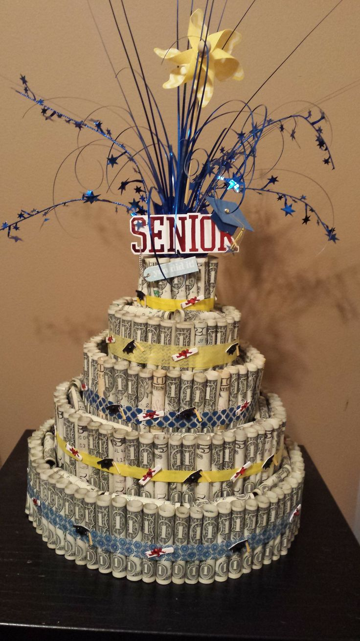 Senior Graduation Money Cake Decorations Pinterest