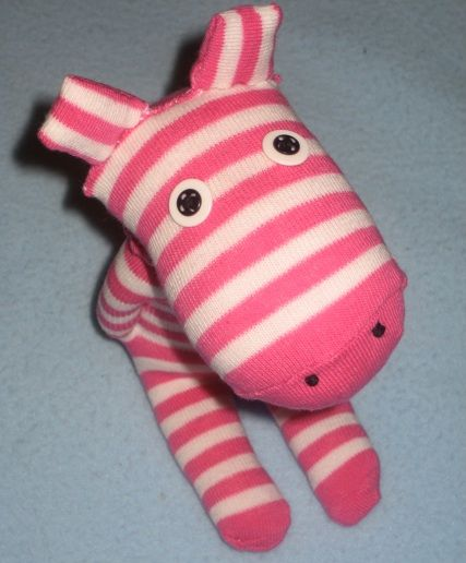Service Project Sock toy- Zebra