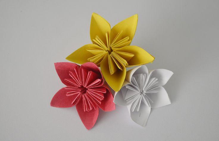 DIY - Paper craft. Origami flowers. Оригами. Цветы из бумаги.