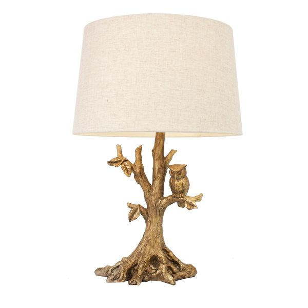 Textured Gold Leaf Owl Lamp - Overstock™ Shopping - Great Deals on J Hunt and Company Table Lamps