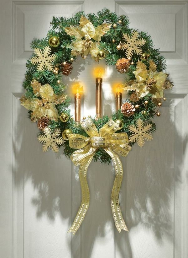 Outdoor Weihnachtsschmuck - Ideen für die Haustür und Garten ...