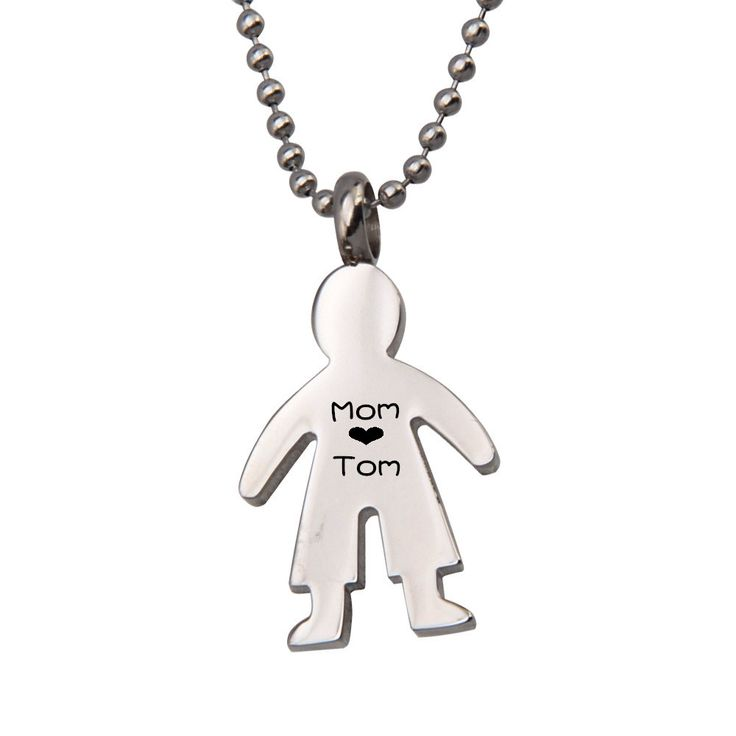 Fashionable 316L Stainless Steel Baby Boy Pendant Necklace For Little Boy,Custom Name Pendant Necklace,Personalized Boy Necklace