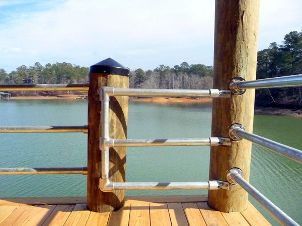 Best Wooden Post Railing Use Wood Piping And Steel Thread For 400 x 300