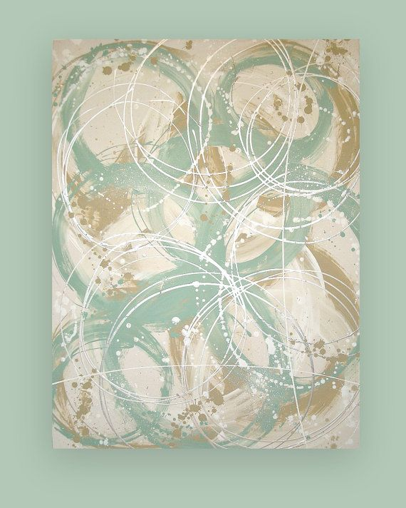 Shabby Chic Beach pittura acrilica originale di OraBirenbaumArt, $485.00