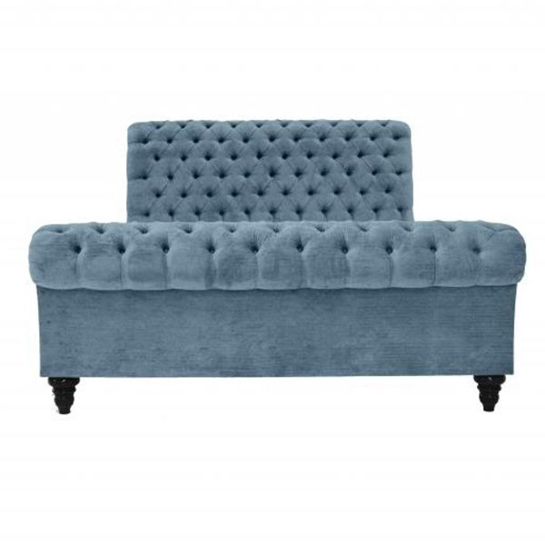 CLASSIC CHESTERFIELD BED BLUE