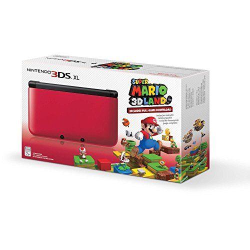 Nintendo 3DS XL Red/Black with Super Mario 3D Land Download  http://www.discountbazaaronline.com/2016/03/10/nintendo-3ds-xl-redblack-with-super-mario-3d-land-download/