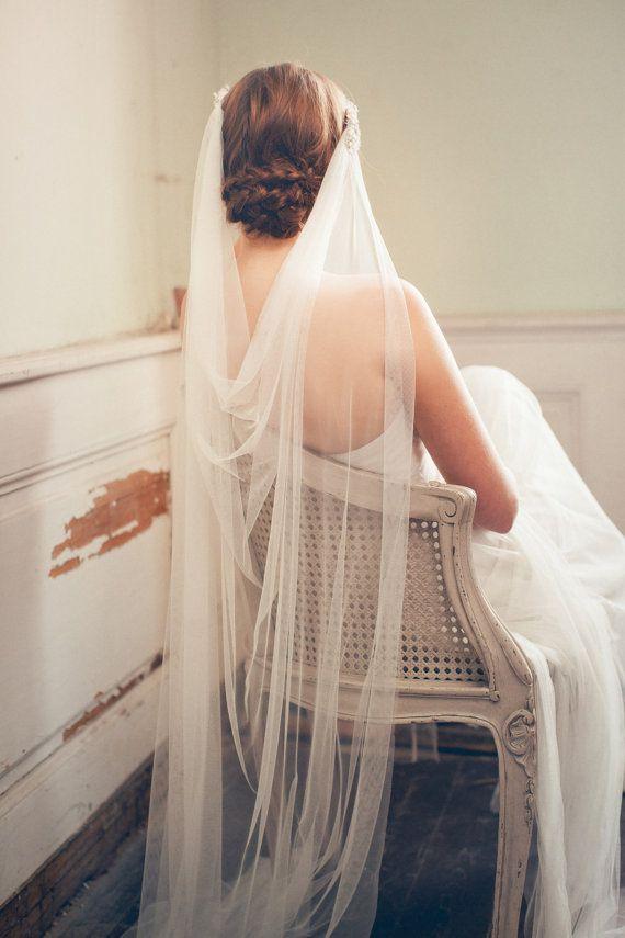 Casco  de la boda velo de novia velo de novia  por JannieBaltzer