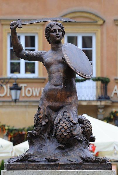 Syrenka statue in Warsaw, Poland
