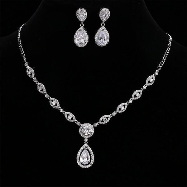 """Teardrop Hochzeitsschmuck Set für die Braut – """"Annabel""""   – jewelry"""