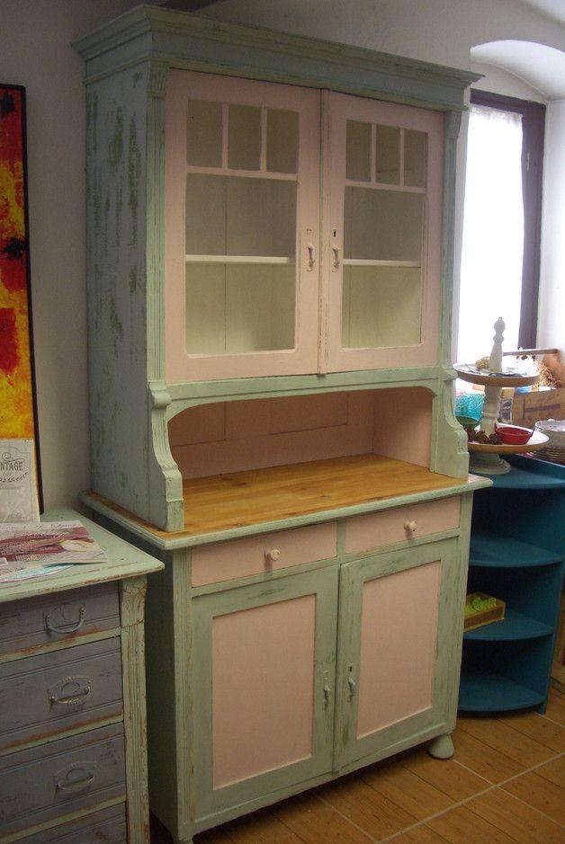 wundervolles altes k chenbuffet shabby jugendstil shabby products and vintage buffet. Black Bedroom Furniture Sets. Home Design Ideas