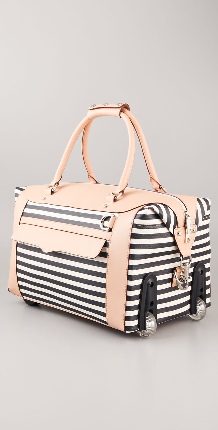 Rebecca Minkoff Striped Wheelie Bag | SHOPBOP