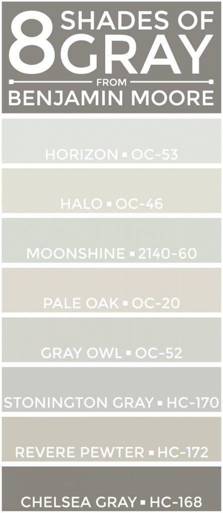Horizon OC-53 Benjamin Moore, Halo OC-46 Benjamin Moore, Moonshine 2140-60…