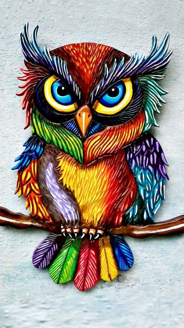 Colorful in 2019 | Owl crafts, Owl art, Owl