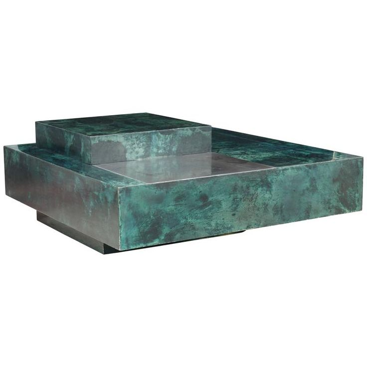 Aldo Tura Emerald Green Goatskin Coffee Table and Bar   From a unique collection of antique and modern coffee and cocktail tables at https://www.1stdibs.com/furniture/tables/coffee-tables-cocktail-tables/